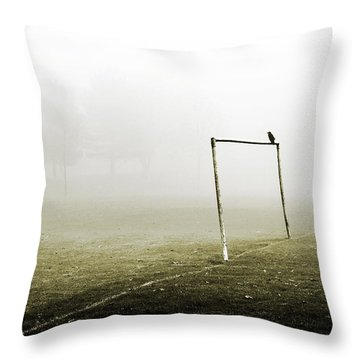 Match Abandoned Throw Pillow by Mark Rogan