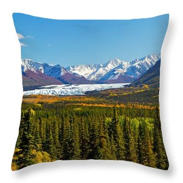 Matenuska Fall Throw Pillow by Ed Boudreau