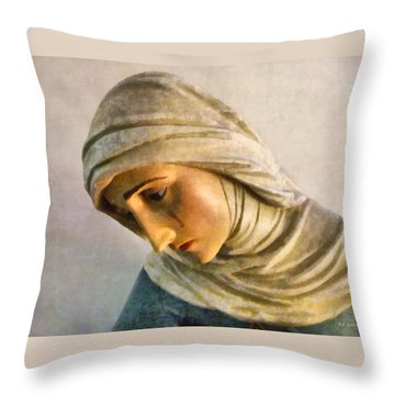Mater Dolorosa Throw Pillow by RC deWinter