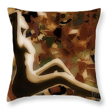 Material Woman Throw Pillow by John Malone