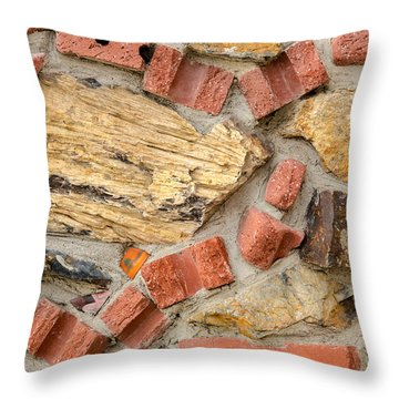 Materials Abstract Throw Pillow by Sue Smith