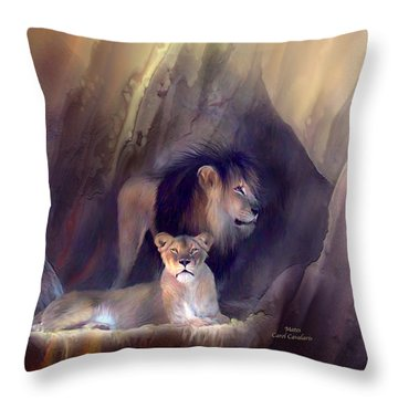 Mates Throw Pillow by Carol Cavalaris
