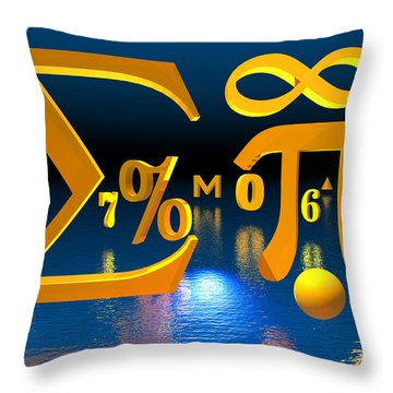 Mathematics Throw Pillow by Carol and Mike Werner