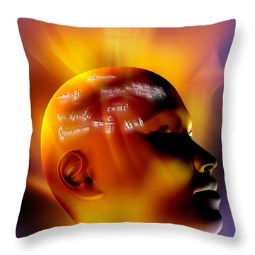 Mathematics Throw Pillow by Mike Agliolo