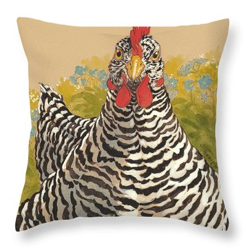 Matilda In The Forget-me-nots Throw Pillow by Tracie Thompson