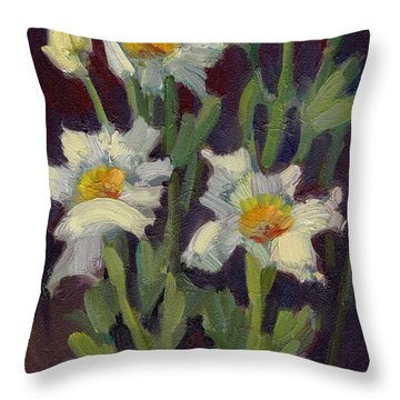 Matilija Poppies Throw Pillow
