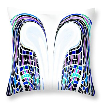 Throw Pillow featuring the photograph Mating Dance by Ann Johndro-Collins