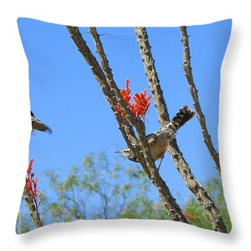 Throw Pillow featuring the photograph Mating Dance by Brenda Pressnall