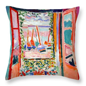 Matisse's Open Window At Collioure Throw Pillow