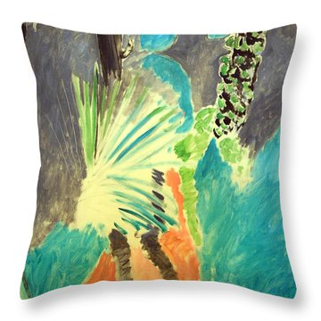 Matisse's Palm Leaf In Tangier Throw Pillow