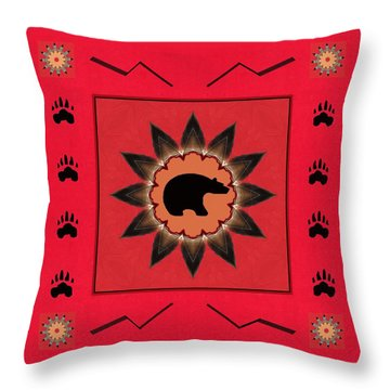 Throw Pillow featuring the photograph Mato Wakan . . Sacred Grizzly  by I'ina Van Lawick