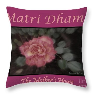 Matri Dhama Design 5 Throw Pillow