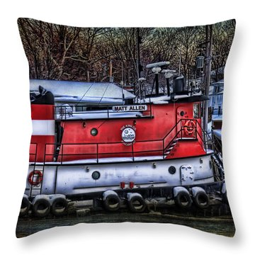 Matt Allen In Saugatuck Michigan Throw Pillow
