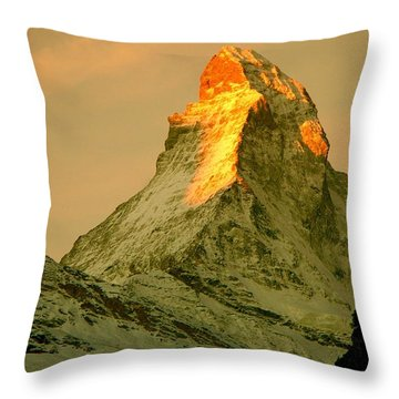 Matterhorn In Switzerland Throw Pillow