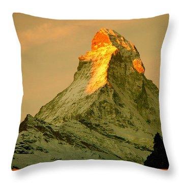 Matterhorn In Switzerland Throw Pillow
