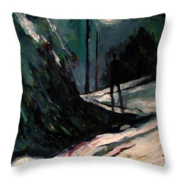 Matthew 25 6 Throw Pillow by Charlie Spear