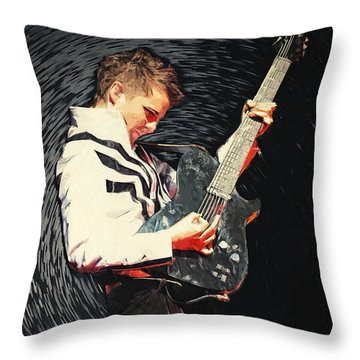 Matthew Bellamy Throw Pillow