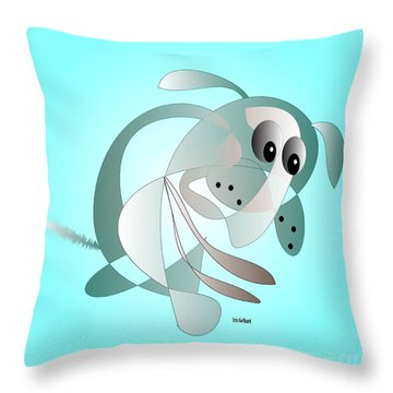 Matthew Mutt Throw Pillow by Iris Gelbart