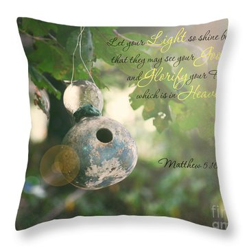 Matthew Verse Throw Pillow