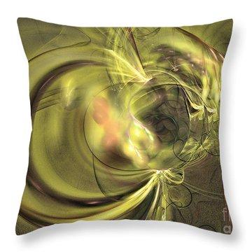 Maturation - Abstract Art Throw Pillow