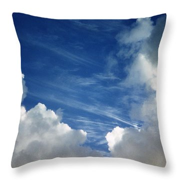 Throw Pillow featuring the photograph Maui Clouds by Evelyn Tambour