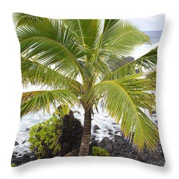 Maui Coast Throw Pillow by Jenna Szerlag