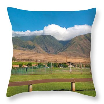 Maui Hawaii Mountains Near Kaanapali   Throw Pillow