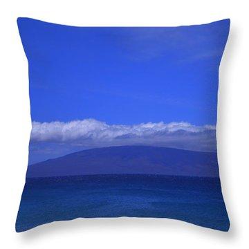 Maui Island View Throw Pillow