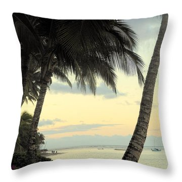 Throw Pillow featuring the photograph Maui Morning by Fred Wilson