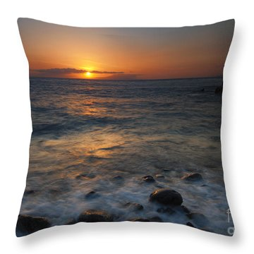 Maui On The Rocks Throw Pillow by Mike  Dawson