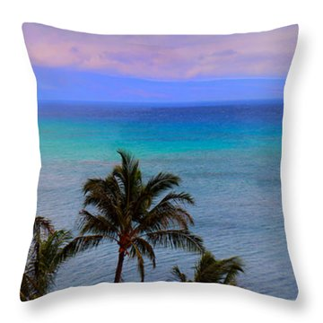 Maui Panorama Throw Pillow