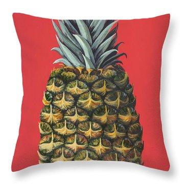 Maui Pineapple 2 Throw Pillow by Darice Machel McGuire