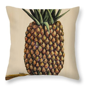 Maui Pineapple 3 Throw Pillow