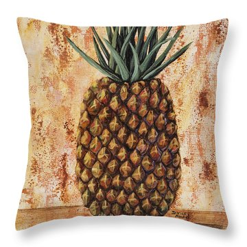 Maui Pineapple Throw Pillow by Darice Machel McGuire