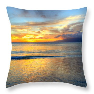 Maui Reflections Throw Pillow