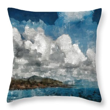 Throw Pillow featuring the photograph Maui Sea Sun And Surf by Michael Flood