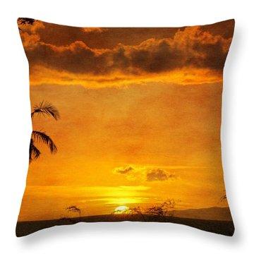Maui Sunset Dream Throw Pillow
