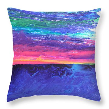 Maui Sunset Throw Pillow by Ralph White