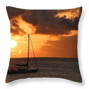 Throw Pillow featuring the photograph Maui Sunset by Shane Kelly