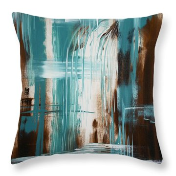 Waterfall In Paradise Throw Pillow