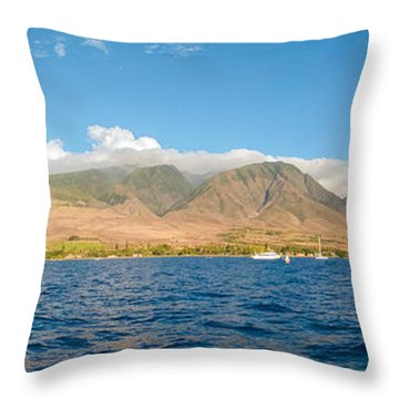Maui's Southern Mountains   Throw Pillow