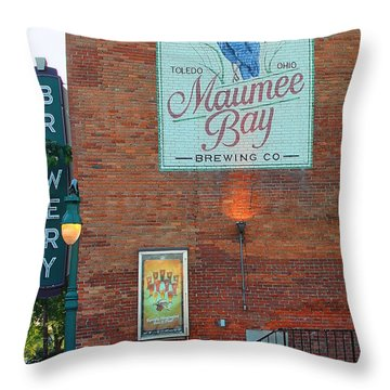 Maumee Bay Brewing Company 2135 Throw Pillow