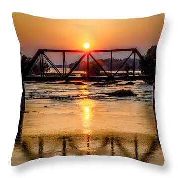 Maumee River At Grand Rapids Ohio Throw Pillow