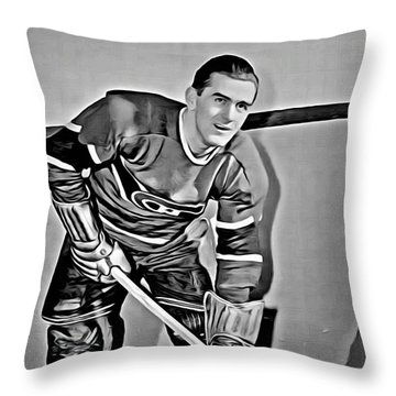 Maurice Richard Throw Pillow by Florian Rodarte
