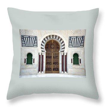 Mausoleum Doors Throw Pillow