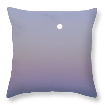 Mauve Moonlight Throw Pillow by Dee Flouton