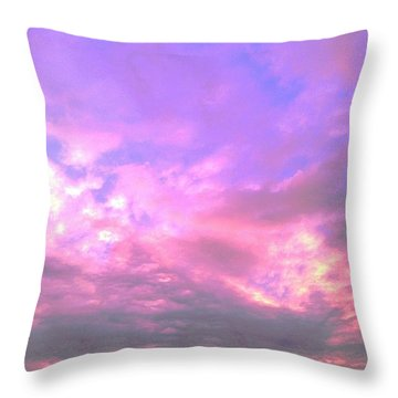 Throw Pillow featuring the digital art Mauve Sunset by Delona Seserman