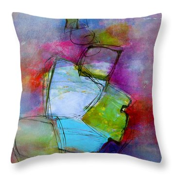 Throw Pillow featuring the painting Maverick by Katie Black