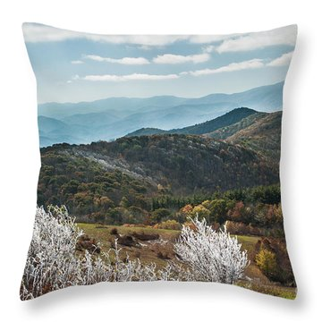 Throw Pillow featuring the photograph Max Patch In Appalachian Mountains by Debbie Green