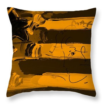 Max Stars And Stripes In Orange Throw Pillow by Rob Hans